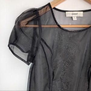 CAMEO• black sheer dress
